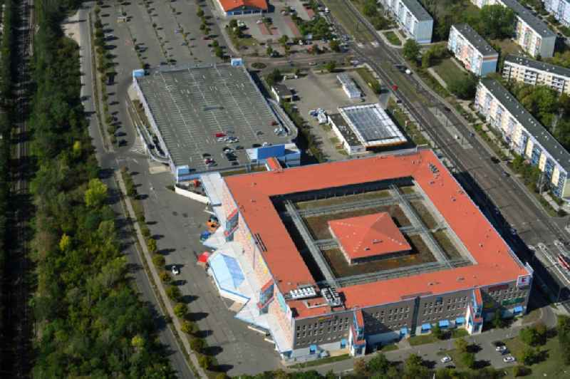 Building of the shopping center Kaufland on Suedstadtring in the district Sued in Halle (Saale) in the state Saxony-Anhalt, Germany