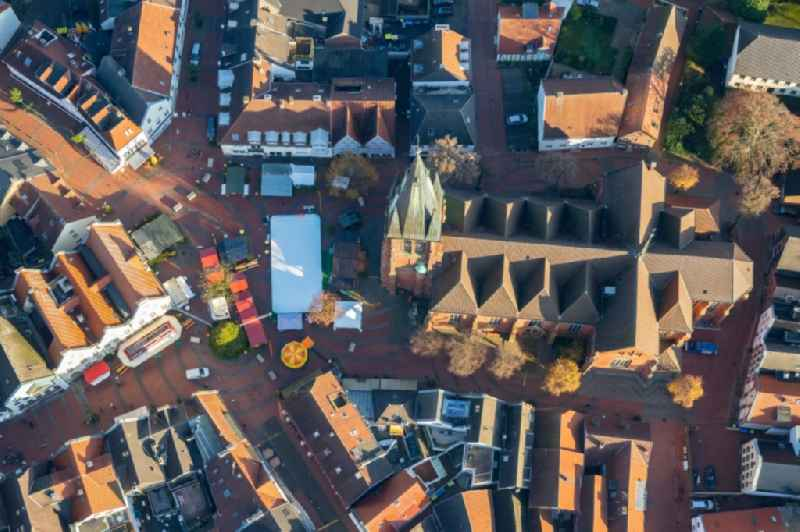 Old Town area and city center in Haltern am See in the state North Rhine-Westphalia, Germany.