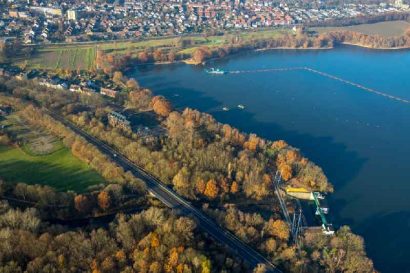 Shore areas at the lake in Haltern am See in the state North Rhine-Westphalia, Germany.