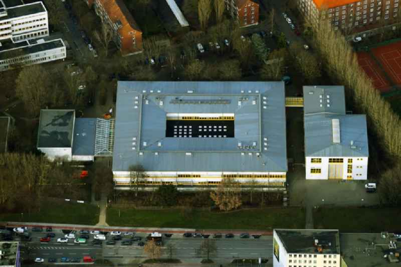 Building complex of the education and training center on Brekelbaums Park in the district Borgfelde in Hamburg, Germany
