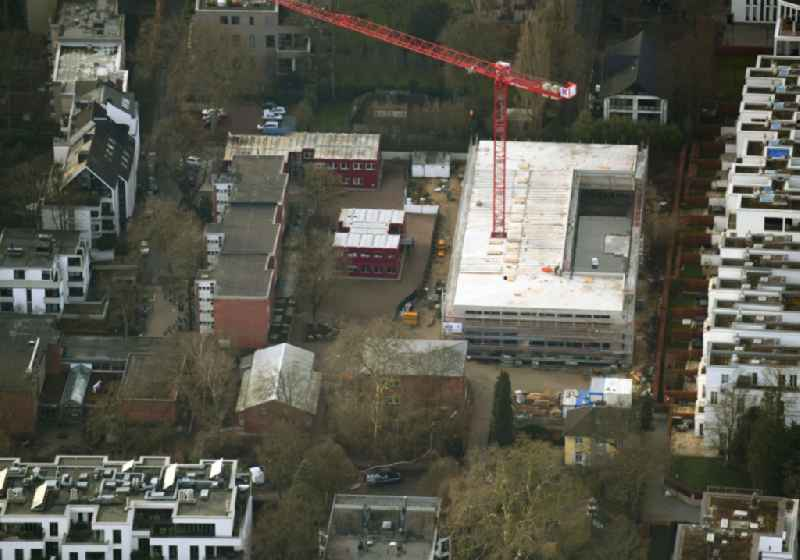 New construction site of the school building on Klosterstieg in the district Harvestehude in Hamburg, Germany