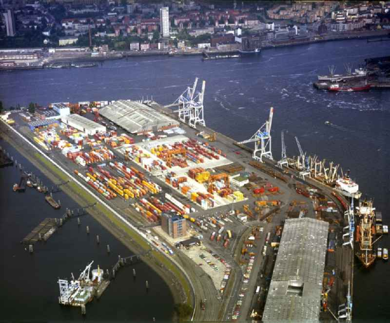 Container Terminal in the port of the inland port ' Am Vulkanhafen ' in the district Steinwerder in Hamburg, Germany
