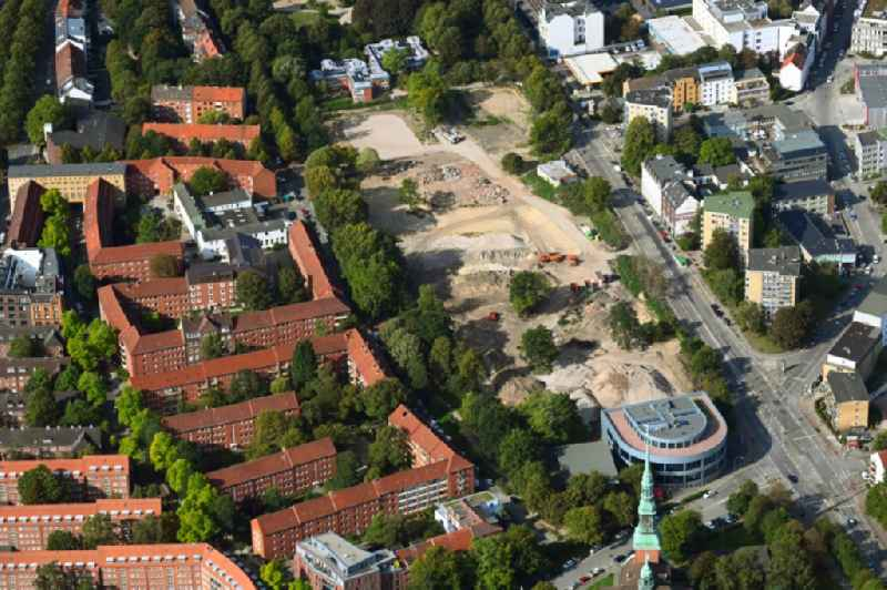 New construction site of the school building and premises of Schulcampus Struenseestrasse in the district Altona-Altstadt in Hamburg, Germany