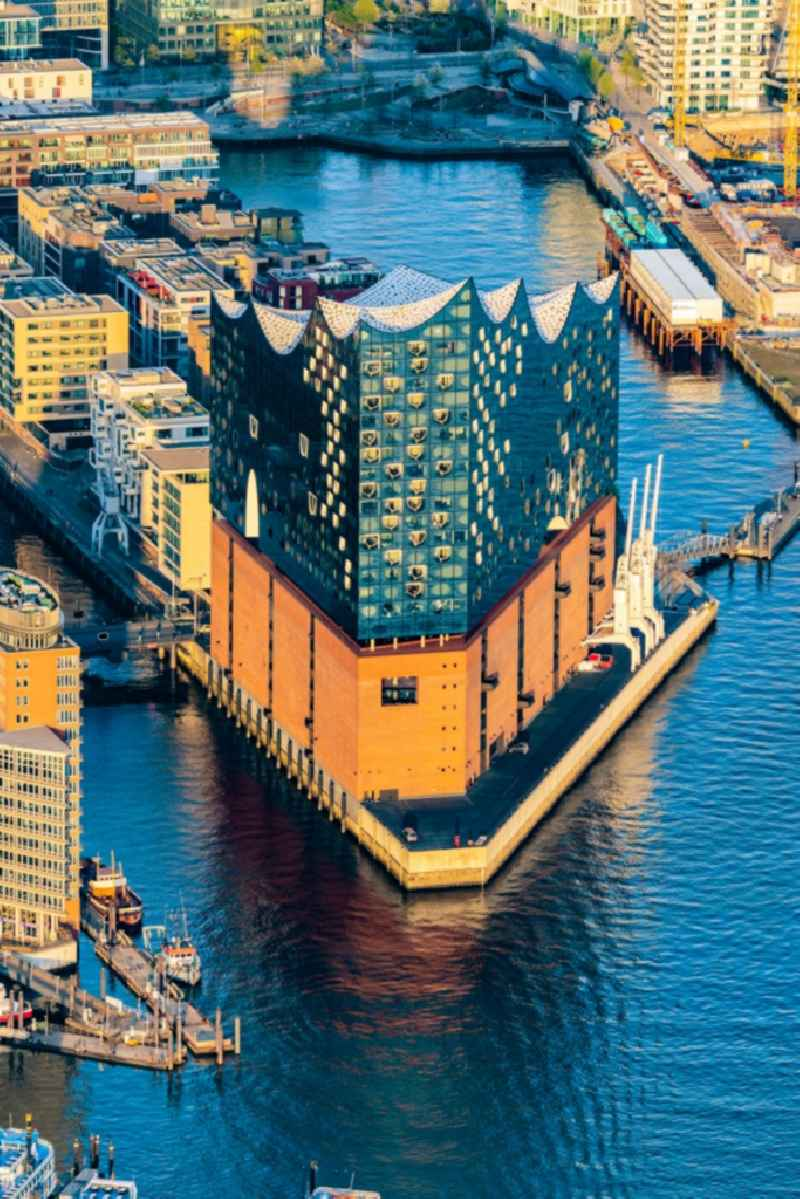 The Elbe Philharmonic Hall on the river bank of the Elbe in Hamburg