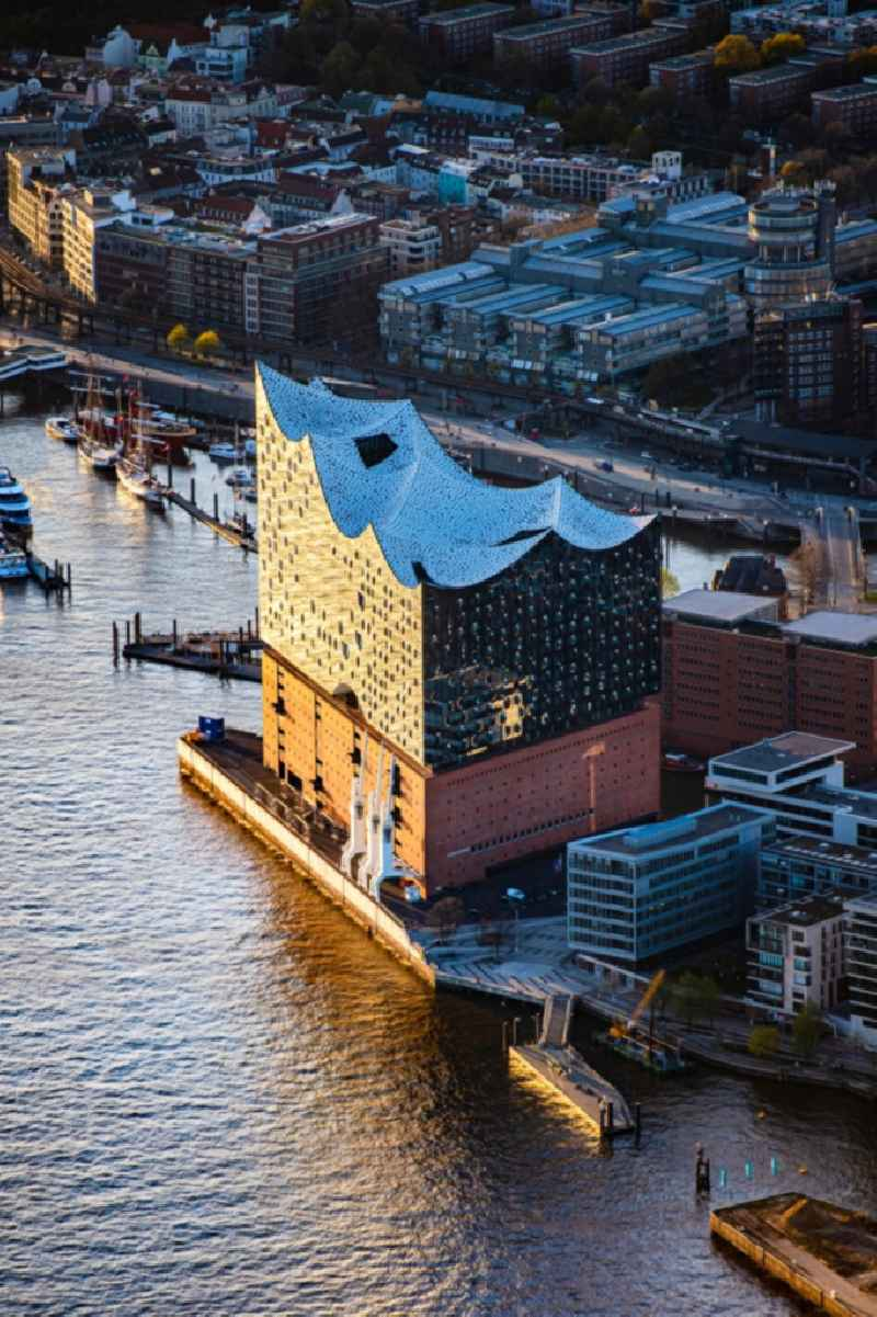 Elbphilharmonie concert hall in the Hafencity in Hamburg, Germany