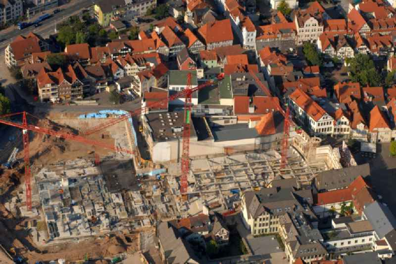 New construction of the building complex of the shopping center Stadt-Galerie Hameln on Pferdemarkt in Hameln in the state Lower Saxony, Germany
