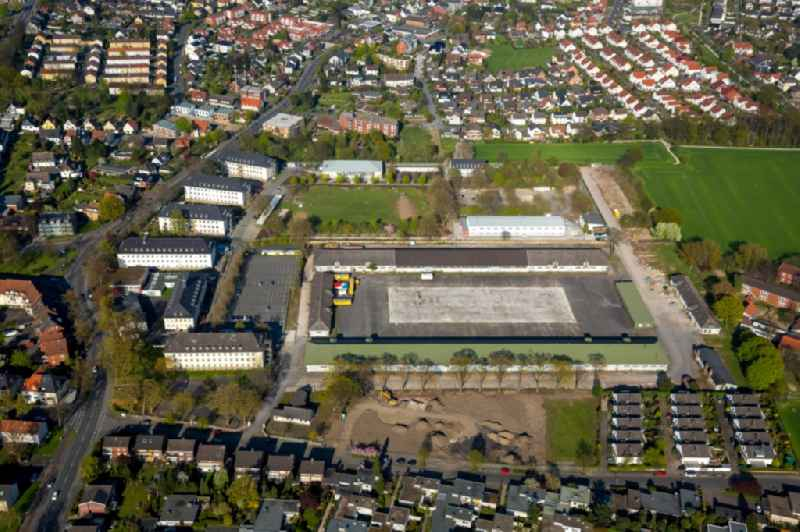 Refugee - buildings at Alten Uentroper Weg on former Newcastle Barracks in Hamm in the state North Rhine-Westphalia