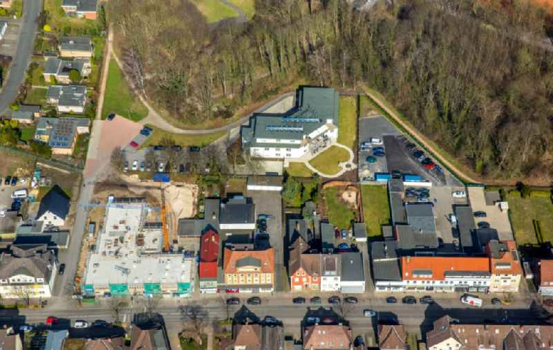 Construction site to build a new multi-family residential complex of msBau GmbH on Alter Uentroper Weg in the district Norddinker in Hamm in the state North Rhine-Westphalia
