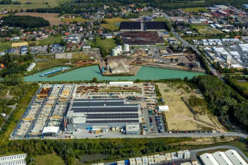 Building and production halls on the premises on Frielinghauser Strasse in the district Uentrop in Hamm in the state North Rhine-Westphalia, Germany