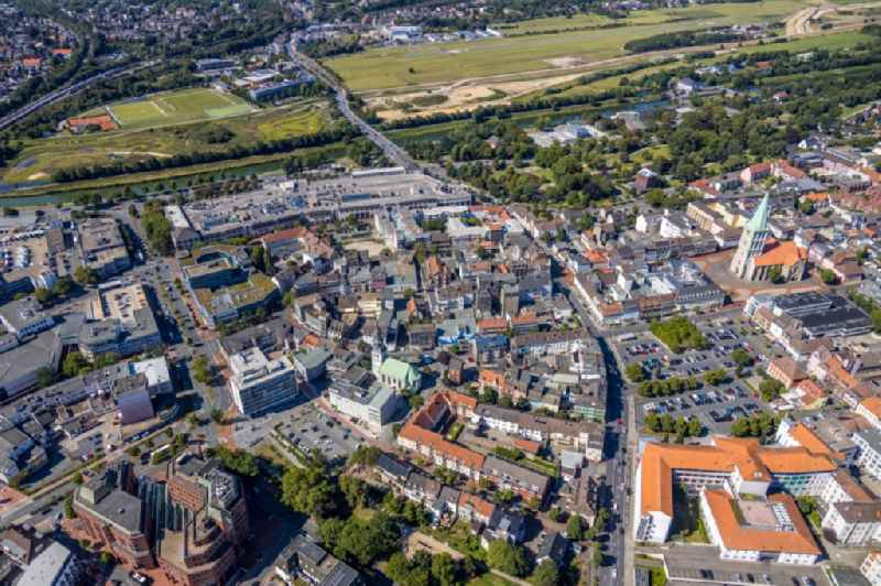 The city center in the downtown area in the district Heessen in Hamm in the state North Rhine-Westphalia, Germany