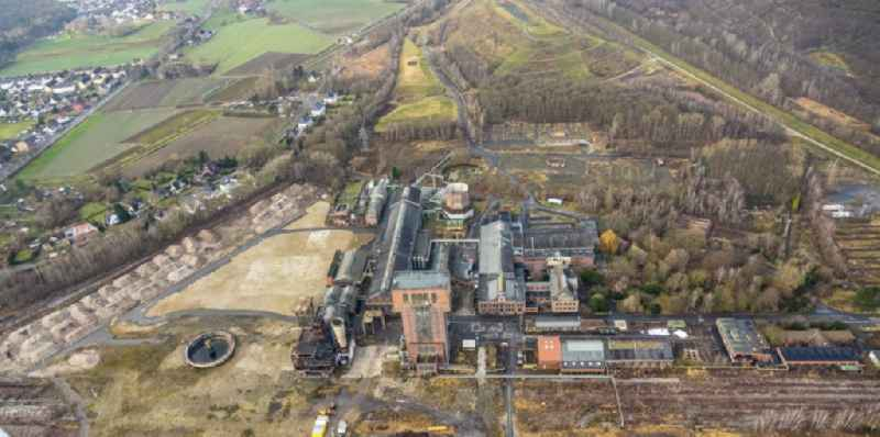 Demolition work on the site of the Industry- ruins 'Zeche Heinrich Robert' in Hamm in the state North Rhine-Westphalia, Germany