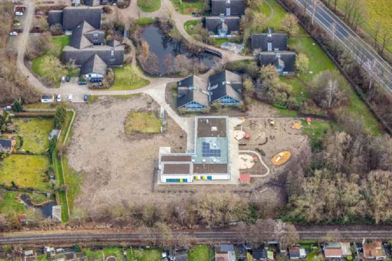 New construction site for the construction of a kindergarten building and Nursery school Caldenhofer Weg - Ahornallee in Hamm at Ruhrgebiet in the state North Rhine-Westphalia, Germany