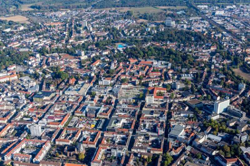 City view on down town in Hanau in the state Hesse, Germany