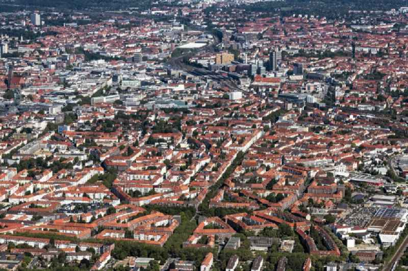 City view on down town in Hannover in the state Lower Saxony, Germany