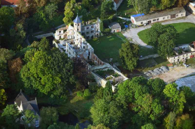Remains of the ruins of the palace grounds of the former Schloss Harbke in Harbke in the state Saxony-Anhalt, Germany