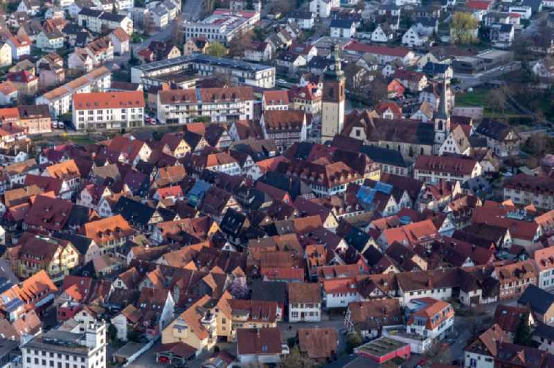 Old Town area and city center in Haslach im Kinzigtal in the state Baden-Wuerttemberg, Germany