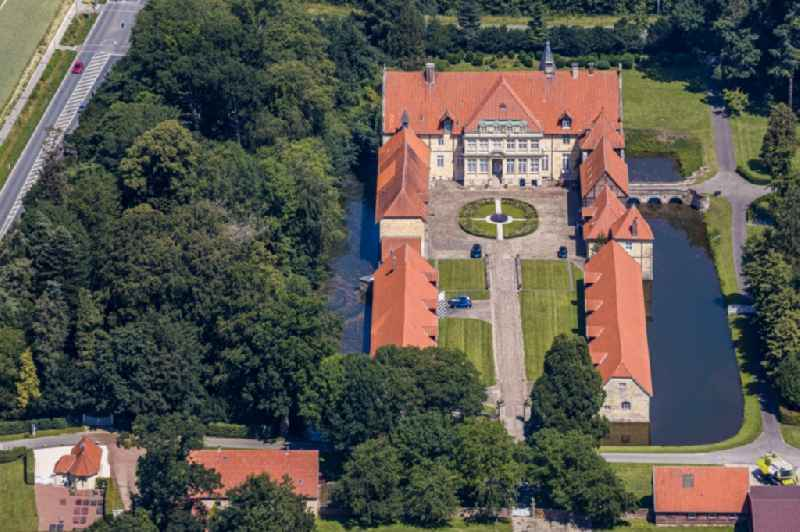 Palace on Josef-Heydt-Strasse in the district Lasbeck in Havixbeck in the state North Rhine-Westphalia, Germany