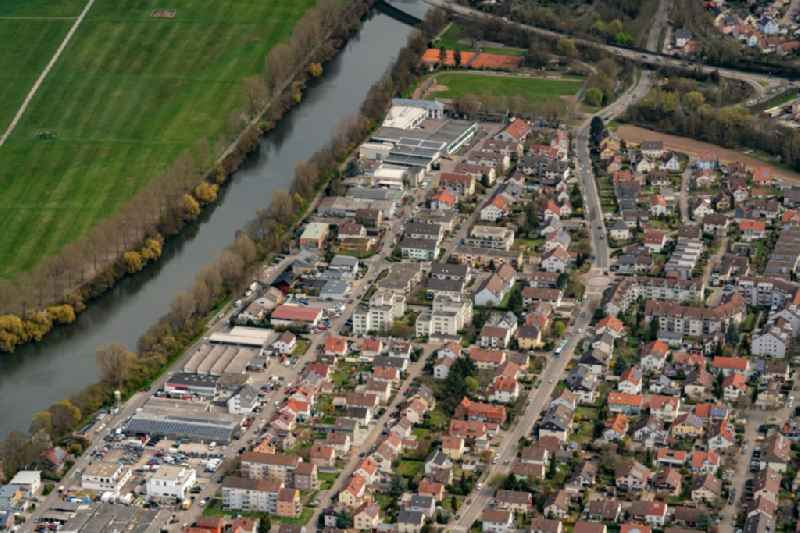 Cityscape of the district Horkheim in Heilbronn in the state Baden-Wuerttemberg, Germany