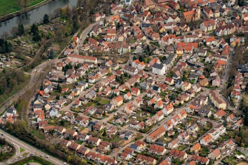 Cityscape of the district Sontheim in Heilbronn in the state Baden-Wuerttemberg, Germany