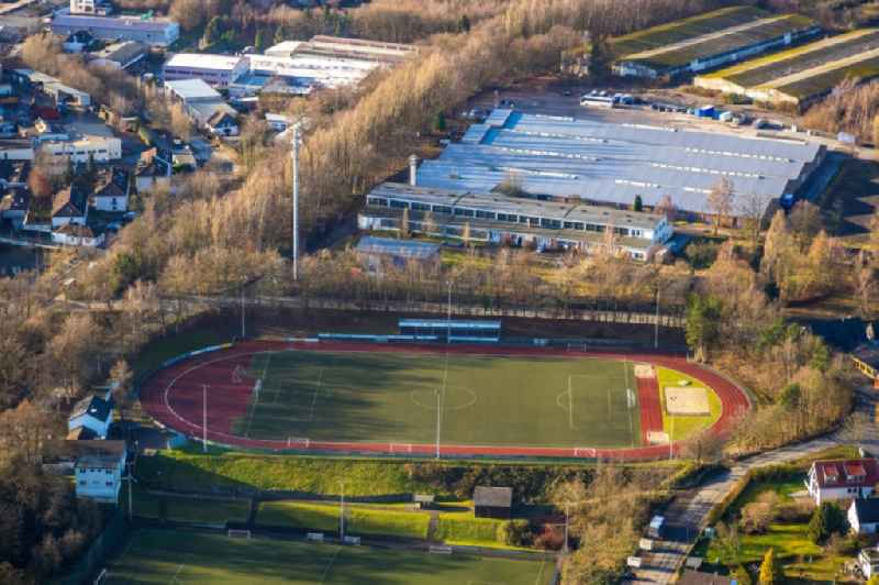 Sports grounds and football pitch in Heiligenhaus in the state North Rhine-Westphalia, Germany. Further information at: SSVg 09/12 Heiligenhaus e.V..