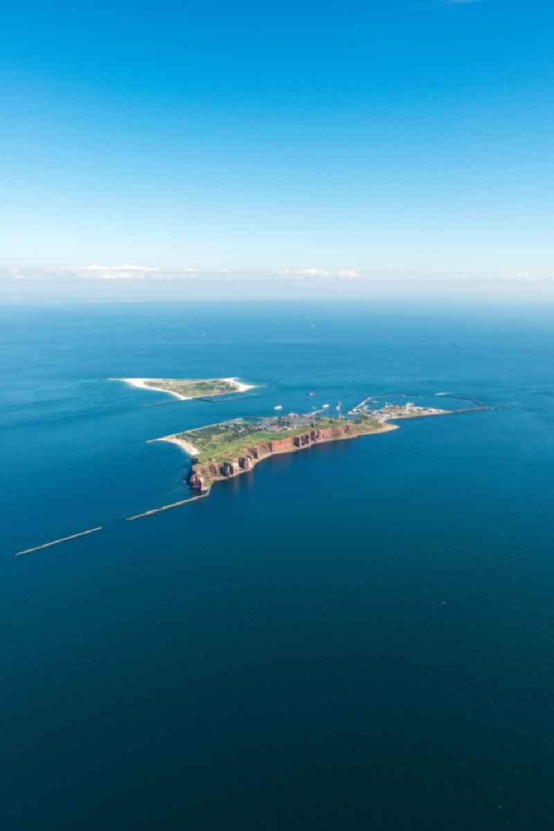 The island of Helgoland in the North Sea to the port area on Helgoland in Schleswig-Holstein.