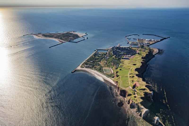 The island of Helgoland in the North Sea to the port area on Helgoland in Schleswig-Holstein