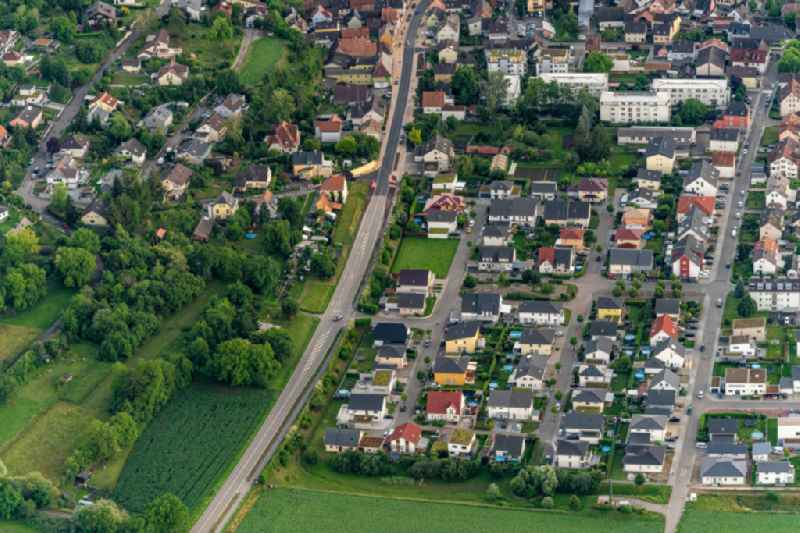 Town View of the streets and houses of the residential areas in Herbolzheim in the state Baden-Wuerttemberg, Germany