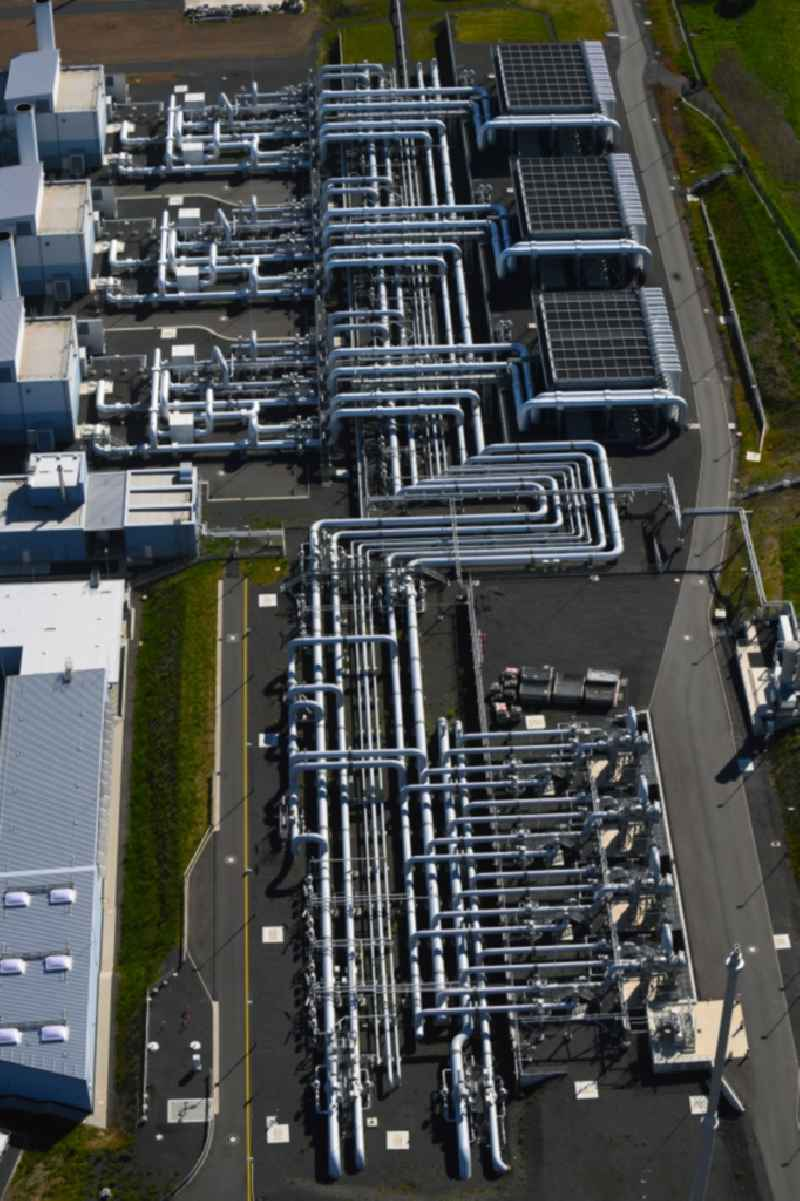 Compressor Stadium and pumping station for natural gas of Open Grid Europe GmbH (OGE) in the district Rixfeld in Herbstein in the state Hesse, Germany