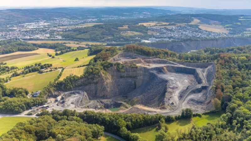 Quarry for the mining and handling of granite in Herdringen in the state North Rhine-Westphalia, Germany
