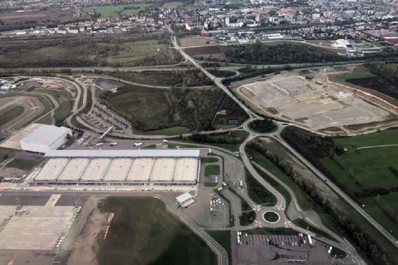 Cargo terminal on the grounds of the airport Euroairport Basel - Mulhouse - Freiburg in Hesingue in Grand Est, France