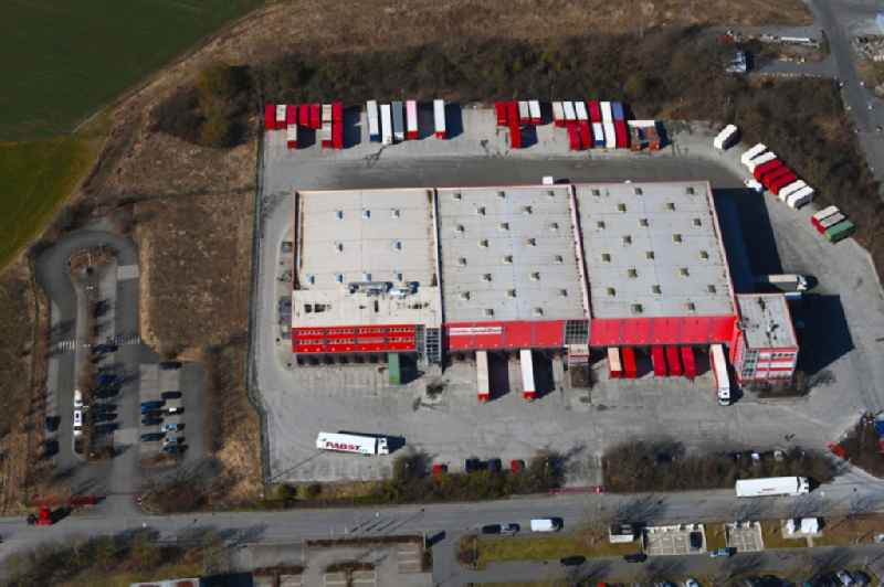 Freight forwarding building a logistics and transport company ' Emons Spedition GmbH ' in Himmelkron in the state Bavaria, Germany