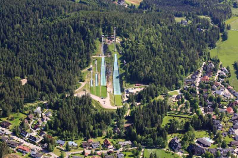 The Adler ski stadium in Hinterzarten in Baden - Wuerttemberg consists of four jumps for ski jumping and is a base for Nordic combined