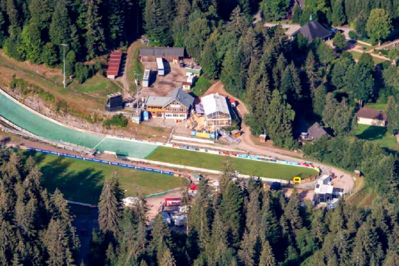 Training and competitive sports center of the ski jump Adler Schanze in Hinterzarten in the state Baden-Wurttemberg, Germany