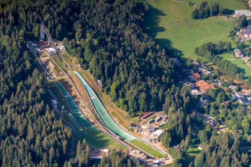 Training and competitive sports center of the ski jump Adler in Hinterzarten in the state Baden-Wurttemberg, Germany