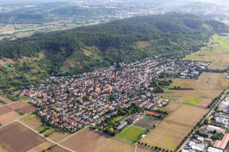 Town View of the streets and houses of the residential areas in Hirschau in the state Baden-Wuerttemberg, Germany