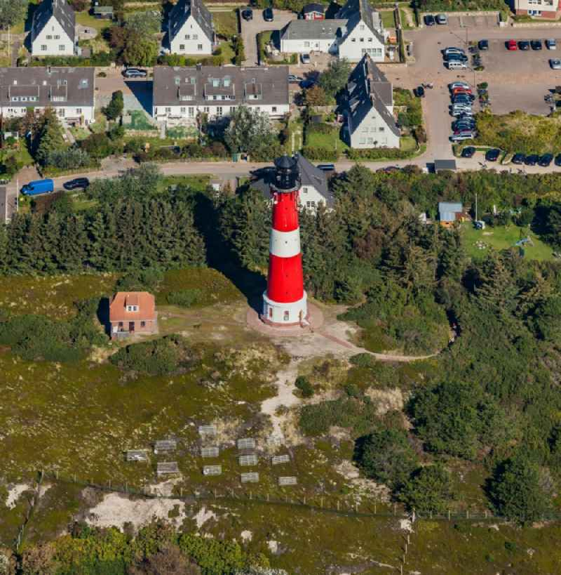 Lighthouse as a historic seafaring character in Hoernum (Sylt) in the state Schleswig-Holstein, Germany.