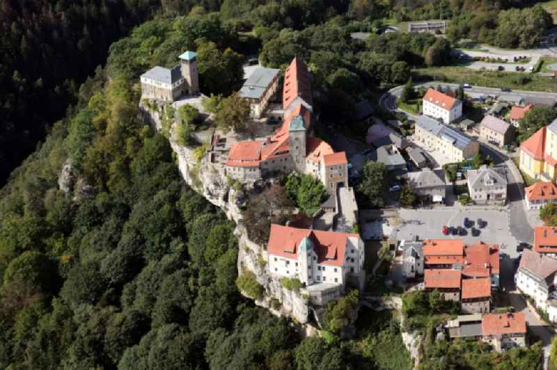 Castle of Hohnstein castle in Hohnstein in the state Saxony, Germany