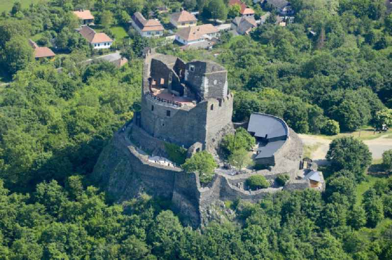 Fragments of the fortress Castle in Hollokoe in Nograd, Hungary