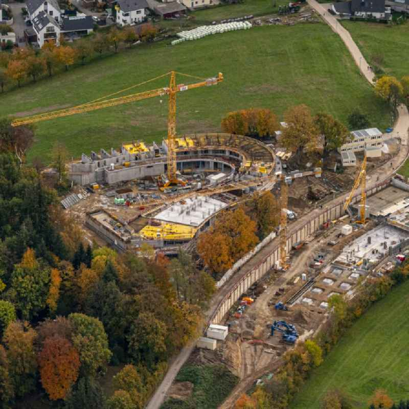 New construction site the hotel complex ' Luisenhoehe Gesundheitsresort ' in Horben in the state Baden-Wuerttemberg, Germany