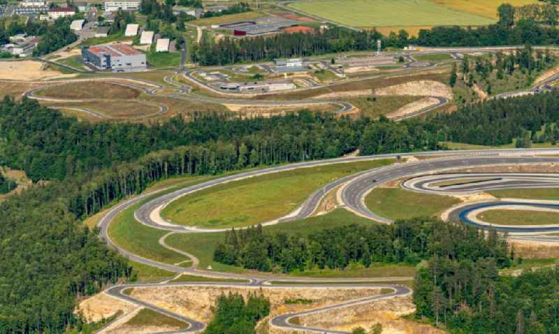 Test track and practice area for training in the driving safety center of Daimler AG Pruef- and Technologiezentrum Am Talmannsberg in Immendingen in the state Baden-Wurttemberg, Germany