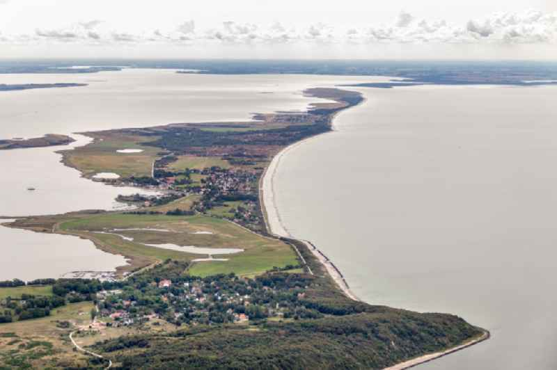 Coastal area of the Baltic Sea - Island Insel Hiddensee in the state Mecklenburg - Western Pomerania, Germany.