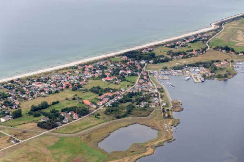 Coastal area of the Baltic Sea - Island in the district Vitte in Insel Hiddensee in the state Mecklenburg - Western Pomerania.