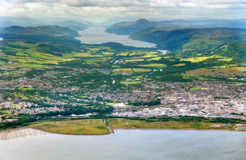 City view of Inverness in the district of Highland in Scotland.