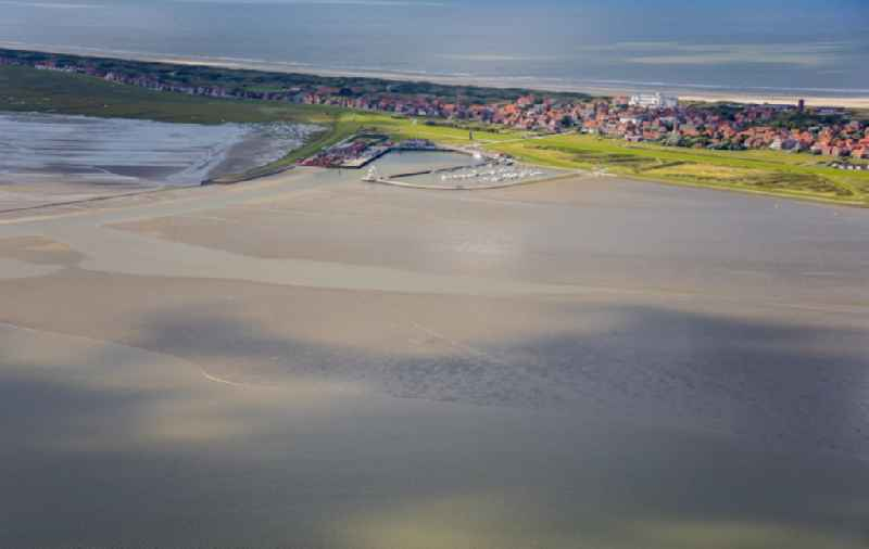 Coastal area of North Sea - Island in Juist in the state Lower Saxony, Germany