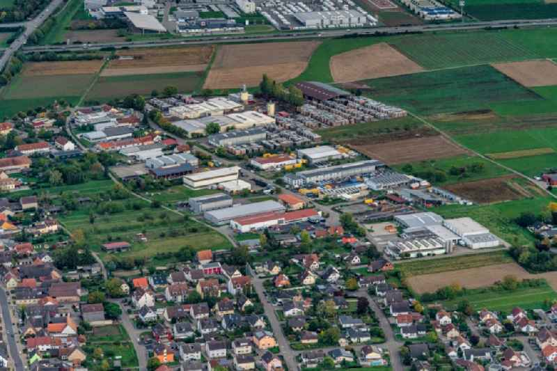 Industrial estate and company settlement in Kappel-Grafenhausen in the state Baden-Wurttemberg, Germany