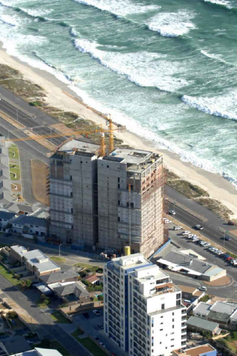 Construction site in the residental area on Blouberg Beach in Cape Town, South Africa.