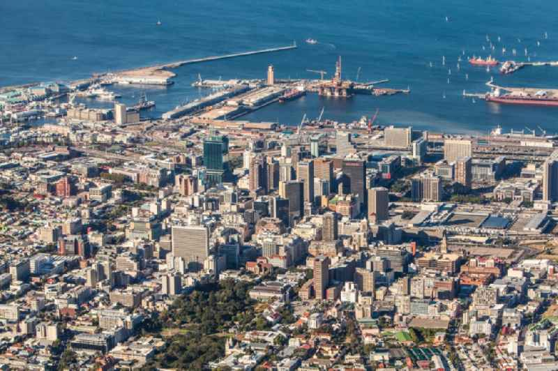 Cityscape of the Cap Town in South Africa a venue of the 2010 FIFA World Cup.