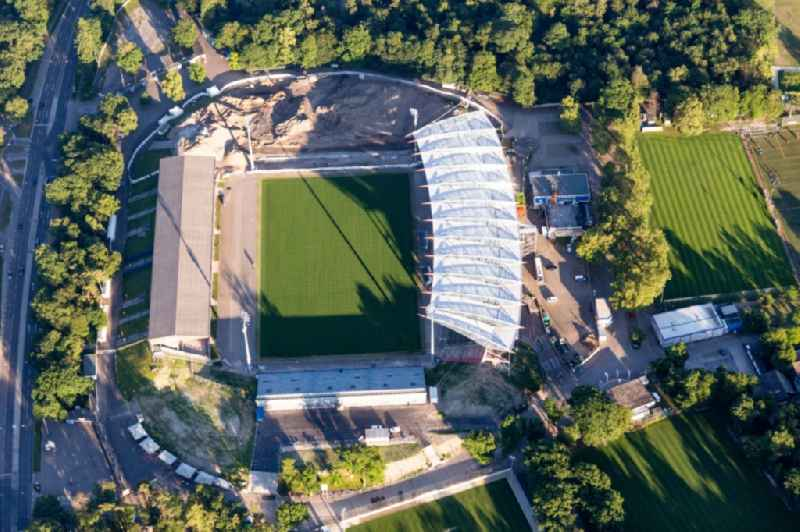 Extension and conversion site on the sports ground of the stadium 'Wildparkstadion' of the KSC in Karlsruhe in the state Baden-Wurttemberg, Germany