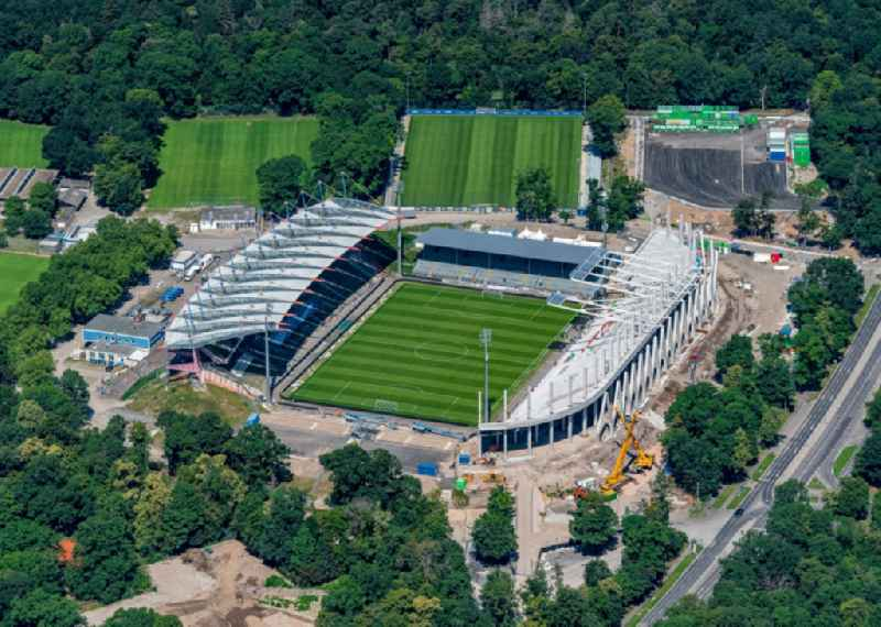 Extension and conversion site on the sports ground of the stadium ' Wildparkstadion ' in Karlsruhe in the state Baden-Wurttemberg, Germany