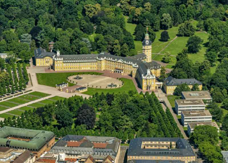 Palace in Karlsruhe in the state Baden-Wuerttemberg, Germany